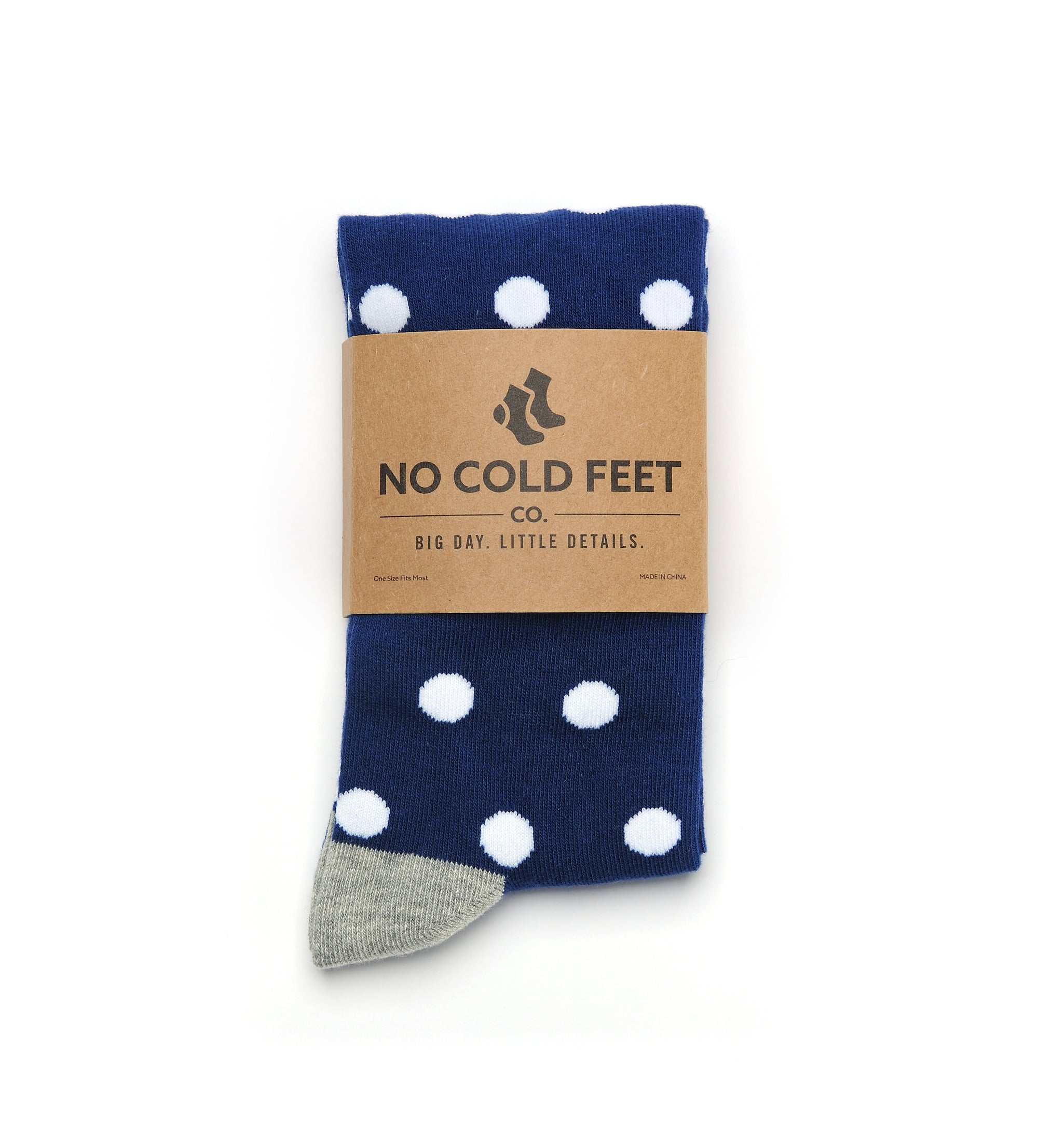 Navy with White Polka Dot Socks