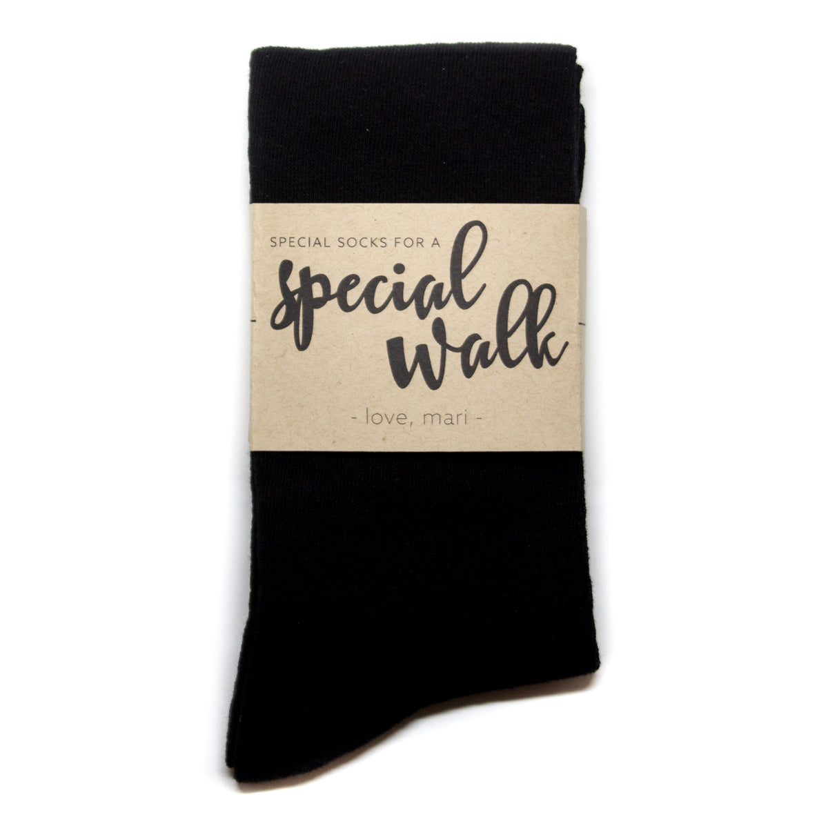 """Special Socks for a Special Walk"" Label 
