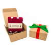 Single Sock Christmas Box w/ Bow & Label | NoColdFeet