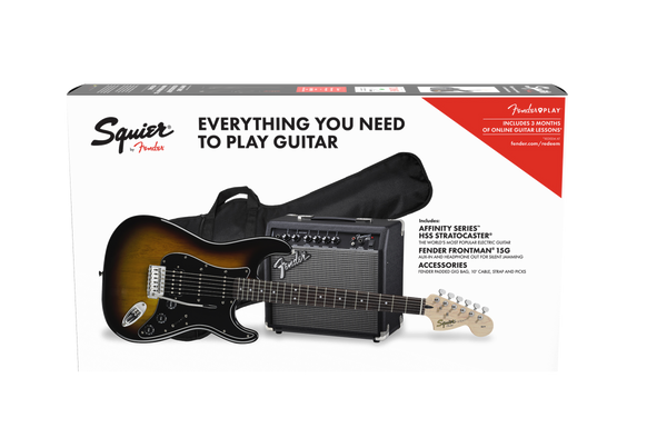 SQUIER AFFINITY SERIES™ STRATOCASTER® HSS PACK - BROWN SUNBURST