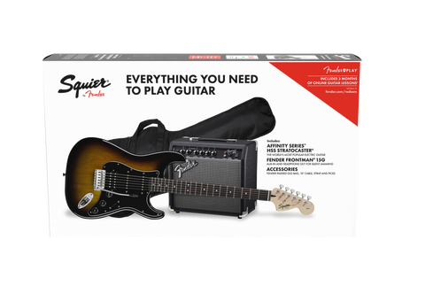 Squier Affinity Series HSS Stratocaster Pack - Brown Sunburst