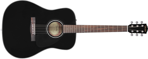 Fender CD-60 V3 Dreadnought Acoustic Guitar - Black