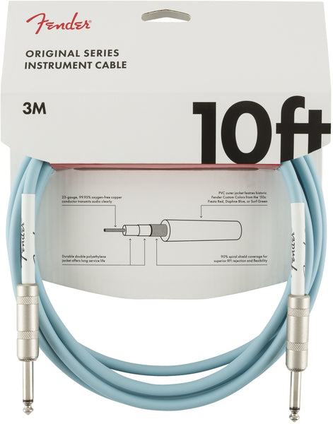 Fender 10ft Original series instrument cable - Daphne Blue