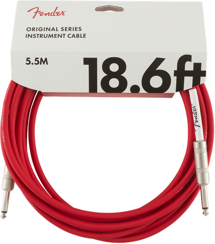 Fender 18.6ft Original Series Instrument Cable - Fiesta Red