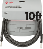Fender 10ft Professional Series Instrument Cable - Grey Tweed