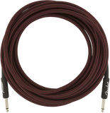 Fender 18.6ft Professional Series Instrument Cable - Red Tweed
