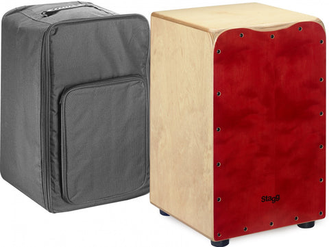 Stagg CAJ-50M Cajon - Red (including bag)