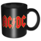 Black mug with ACDC logo