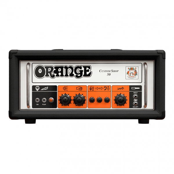 Orange Custom Shop 50 Guitar Amp Head (Black)