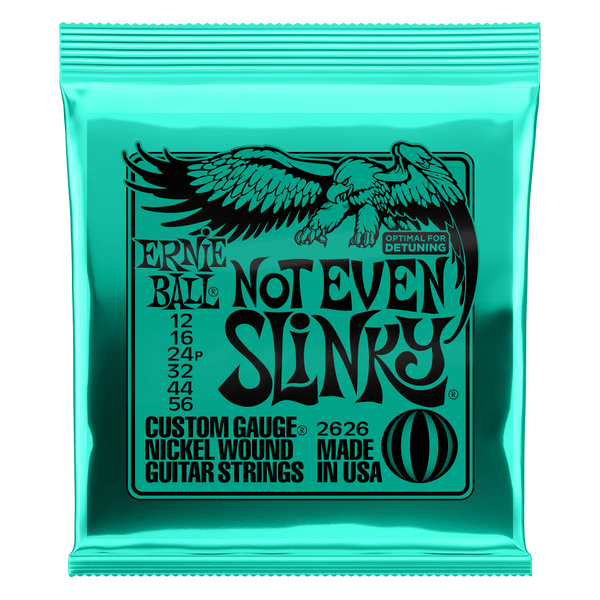 Ernie Ball NOT EVEN SLINKY NICKEL WOUND ELECTRIC GUITAR STRINGS - 12-56 GAUGE