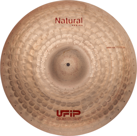 "UFIP Natural Series 21"" Crash Ride Cymbal"