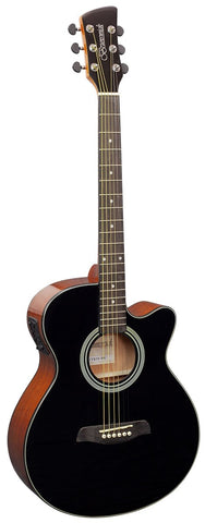 Brunswick BTK50 Grand Auditorium Electro-Acoustic Guitar - Black