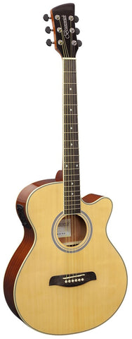 Brunswick BTK50 Grand Auditorium Electro-Acoustic Guitar - Natural