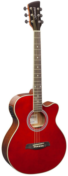 Brunswick BTK50 Grand Auditorium Electro-Acoustic Guitar - Red