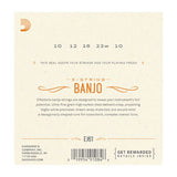 D'Addario EJ61 5-String Banjo, Nickel, Medium, 10-23