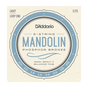 D'Addario EJ73 Mandolin Strings, Phosphor Bronze, Light, 10-38