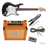 Electric guitar starter package - Black