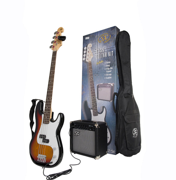 SX P-Bass Kit - Including 10 Watt Amp - Sunburst