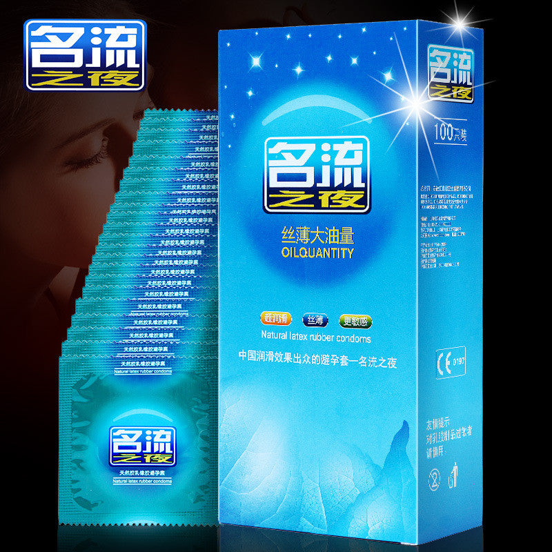 100 Pieces Condom Ultra-thin Lubricated Condoms for Men