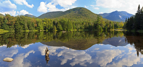 phelps mt, mt marcy and mount colden reflected in marcy dam pond. High Peaks of the Adirondacks