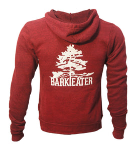 The Bark Eater Hoodie - Cardinal Red and Navy Blue
