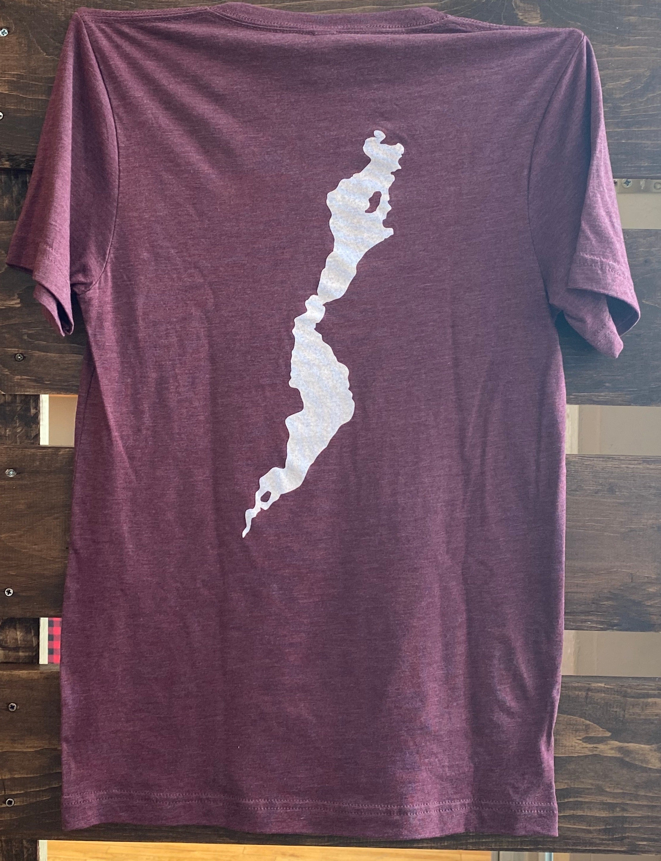 Schroon  Maroon Center Vneck