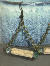 Aqua Driftwood Swing Earrings