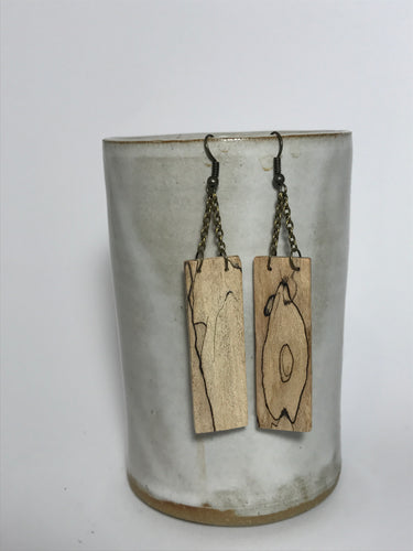 Spalted Maple Rectangle Dangle