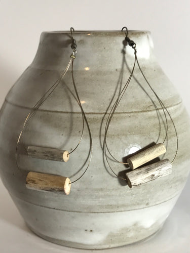 Teardrop Driftwood Earrings
