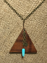 Mahogany Triangle Necklace