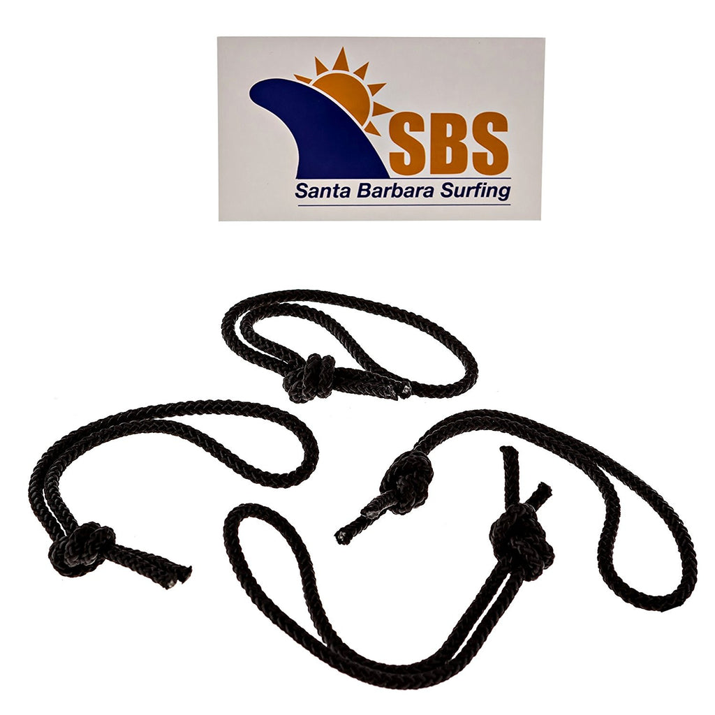 SBS Leash String Cord for Surfboard, Longboard and SUP - 4 Pack