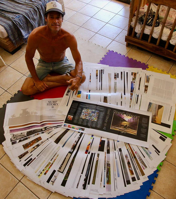 SURF STORY PROJECT Creator, Robb Havassy with 550 page Printers Proof of SURF STORY VOl.2