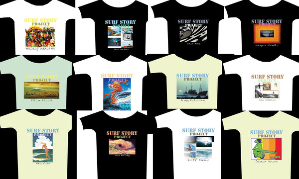 SURF STORY Artist T shirts availble to order NOW