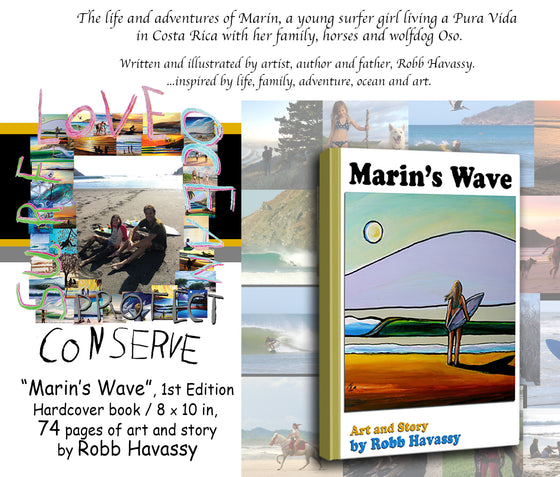 "Pre Order- ""MARIN'S WAVE"" (Collector's Edition) Hardcover Book"