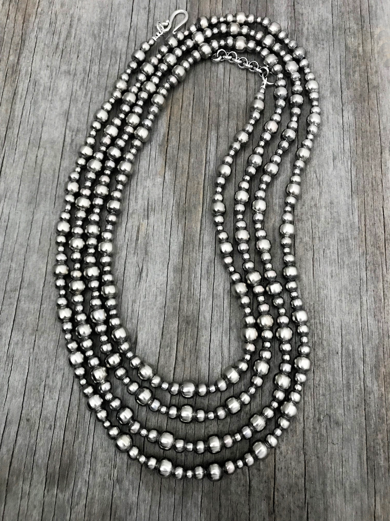 Navajo Pearls Necklace ~ Choose Length ~ 4, 5 & 8mm beads ~ Lovely
