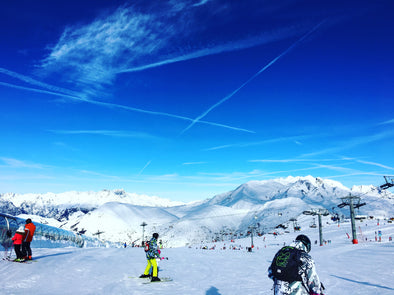 Views from the piste Les Deux Alpes