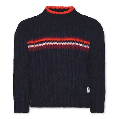 Blue Stripe Knitted Jumper