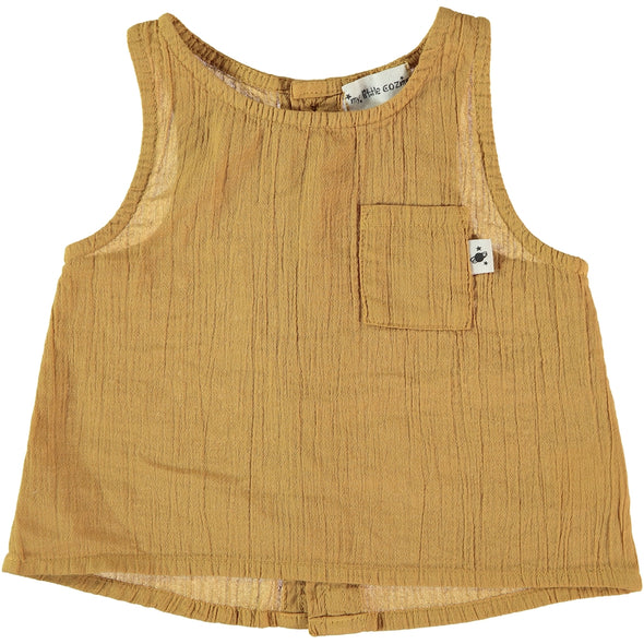 Auba Cotton Vest In Mustard