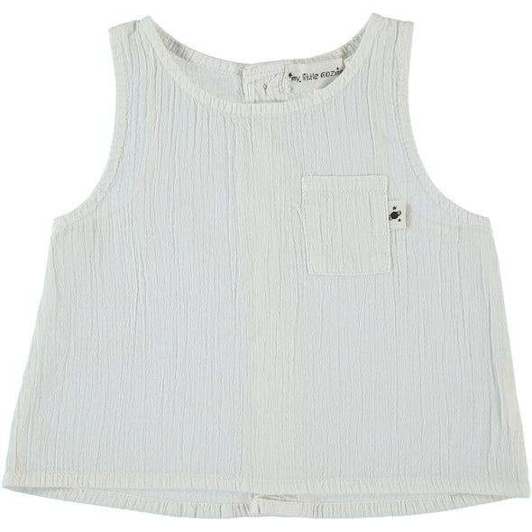 Auba Cotton Vest In Ivory