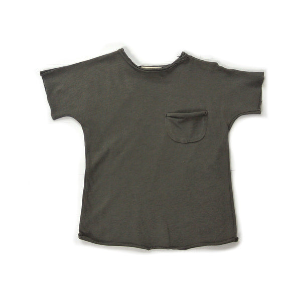 Soft Cotton T-Shirt in Charcoal