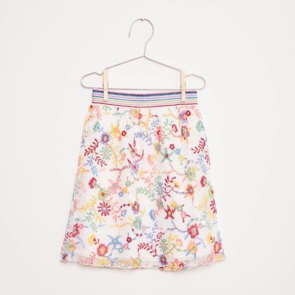 Embroidered Flower Skirt