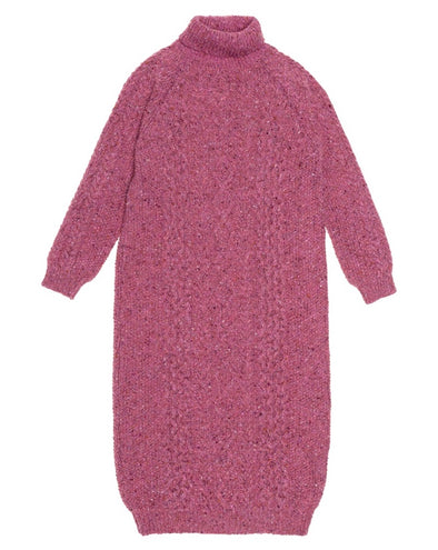 Rosette Knitted Dress