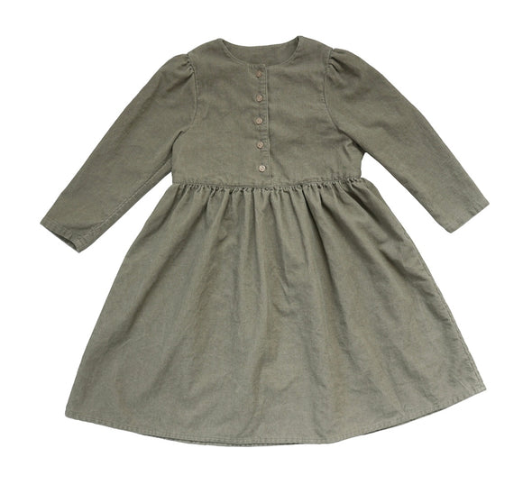 Khaki Corduroy Dress
