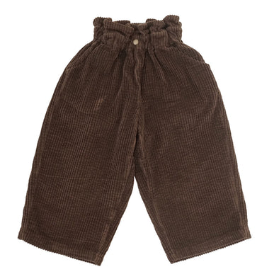 Wide Leg Cord Trousers In Chocolate