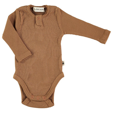 Organic Ribbed Baby Grow In Hazel
