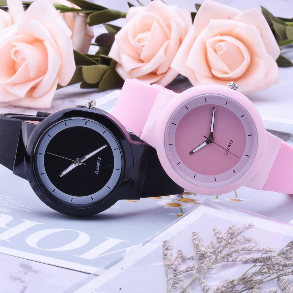 Silicone Band Analog Quartz Wrist Watch
