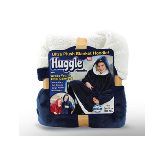 Extra Large Huggle Hooded Super Soft Plush Blanket Wool Hoodie