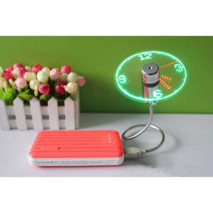 Mini USB Clock Fan