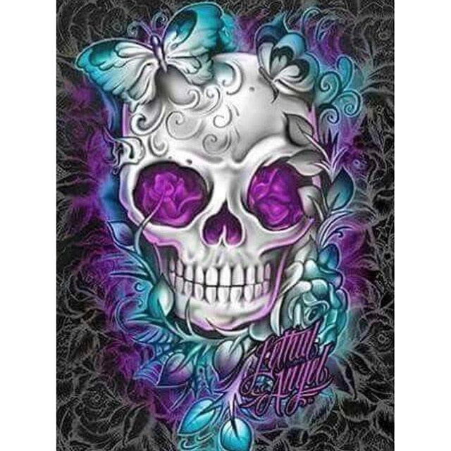5D Diamond Painting Skull Fantasy