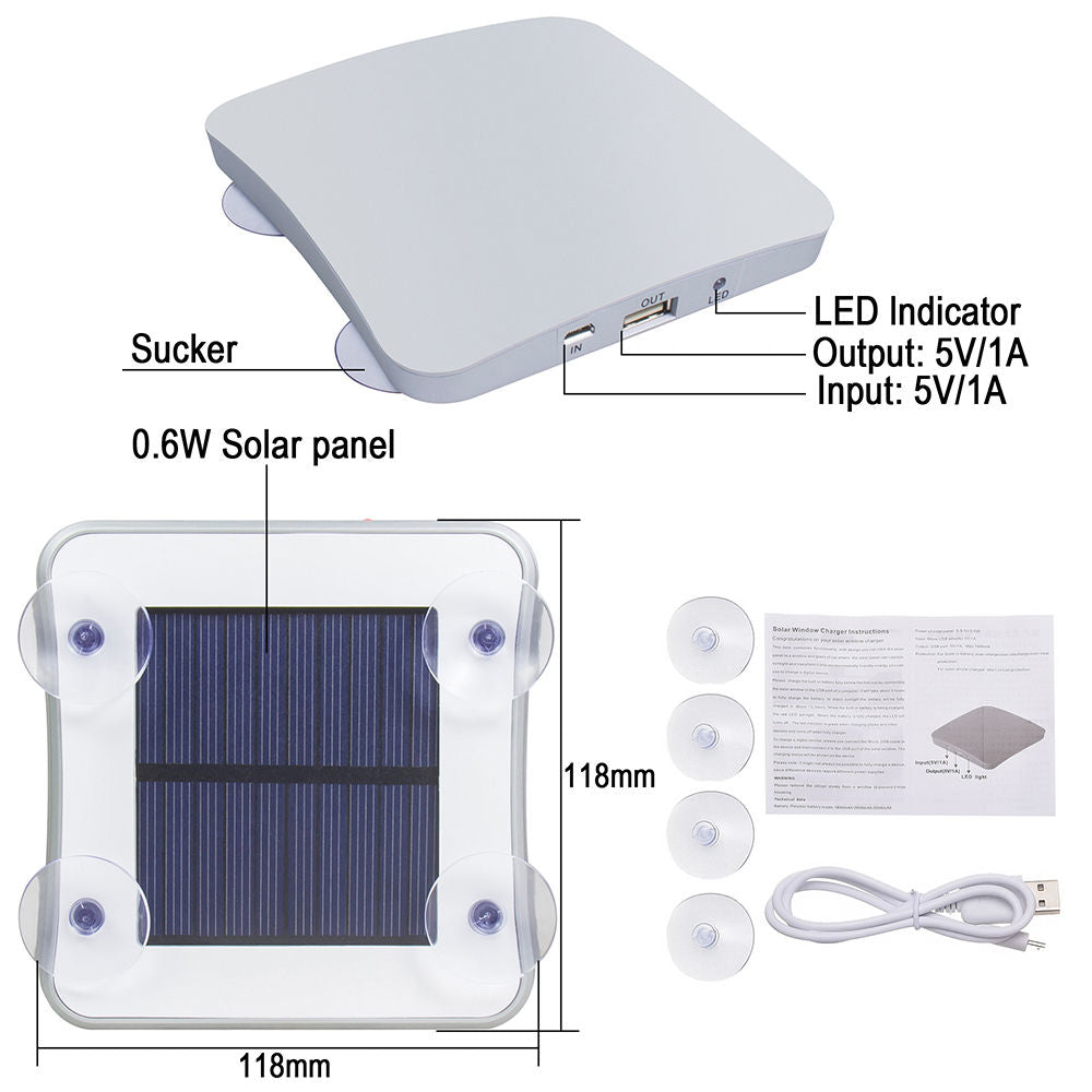 Solar Power Bank Phone Charger